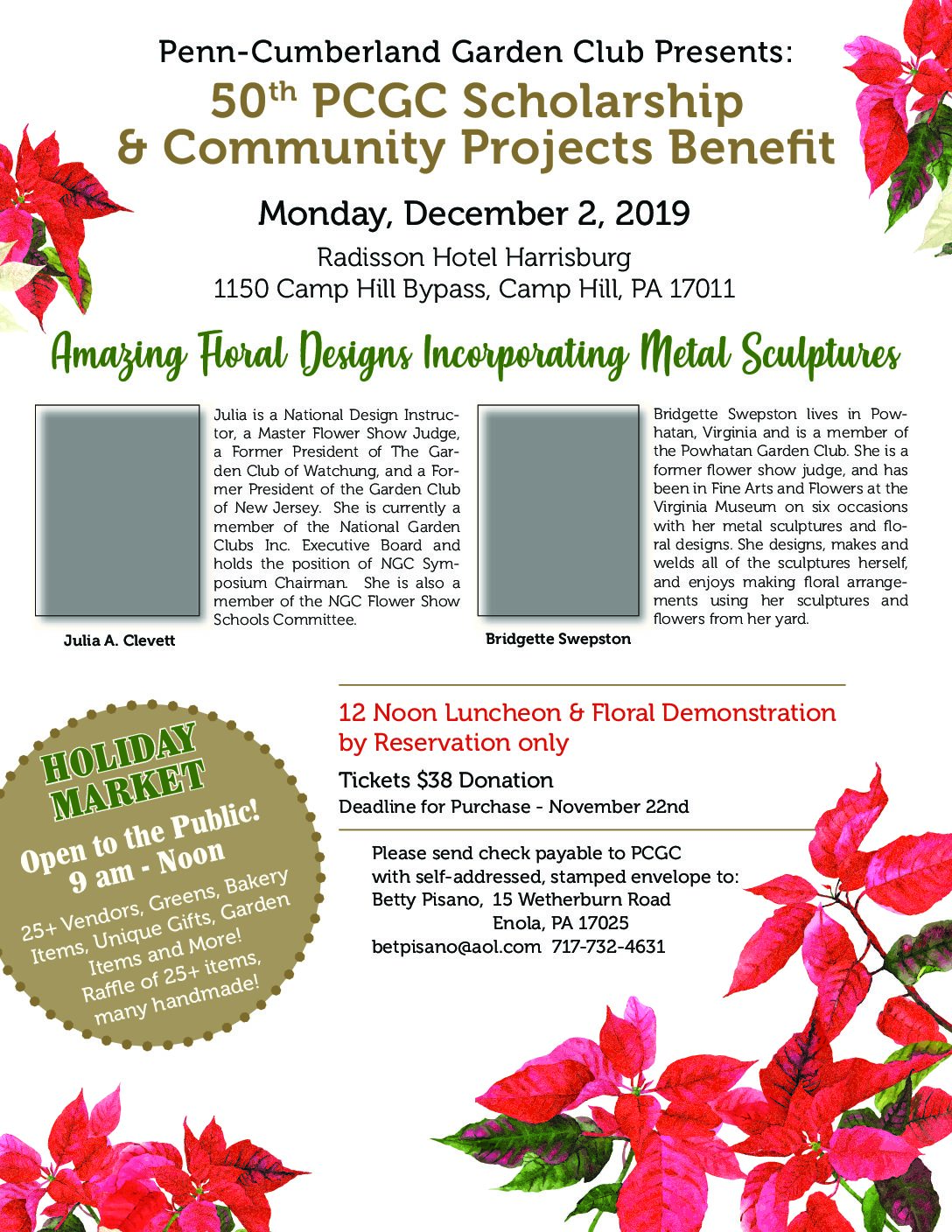 Pcgc Benefit Dec 2 2019 Penn Cumberland Garden Club